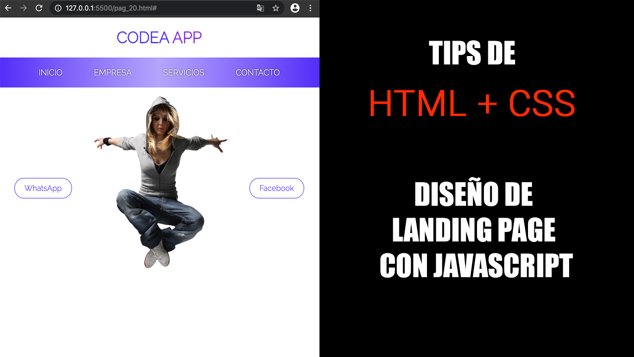 Landing Page con Html+Css y Js