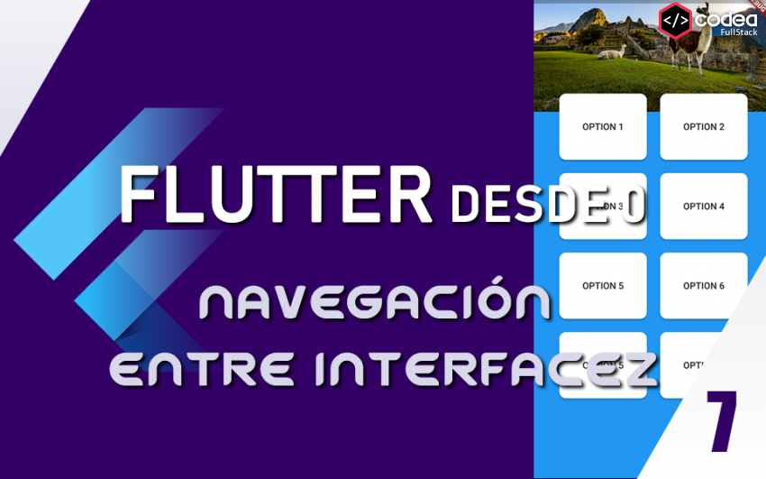 Navegación entre interfaces en Flutter