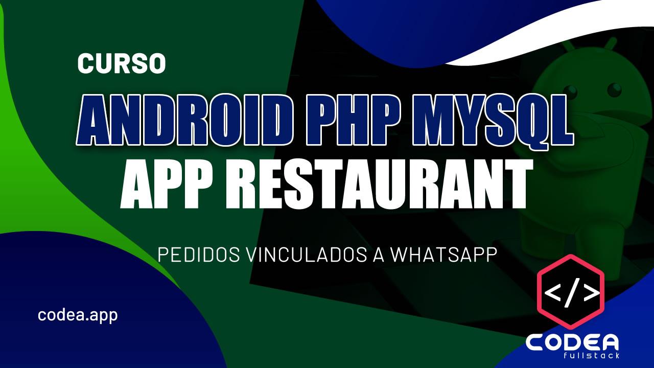 Android PHP MYSQL App Restaurant
