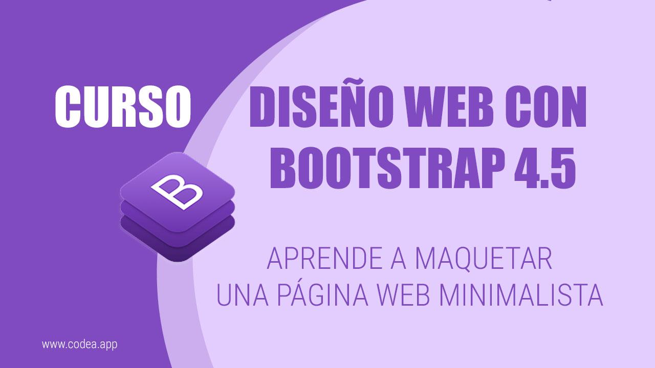 Diseño Web con Bootstrap 4.5