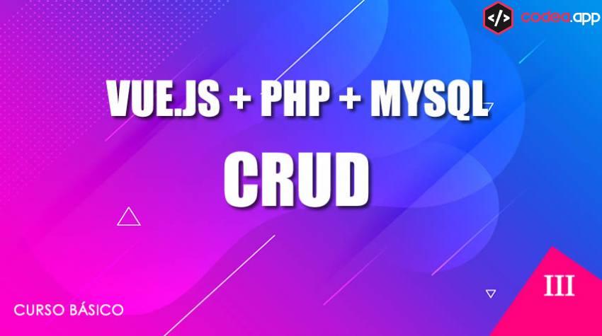 VUE.JS CRUD en PHP y MYSQL
