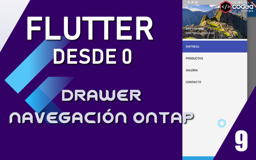 Navegación Drawer interactiva